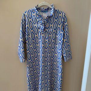 J. McLaughlin Durham Ruffle Dress in Hilo Tapestry